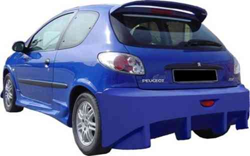 BUMPER PEUGEOT 206 SHARK REAR