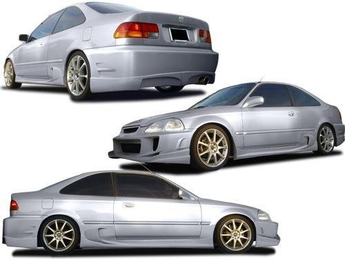 Honda Civic Tuning >> Body Kit Honda Civic 98 Coupe Silver
