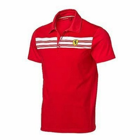 POLO FERRARI MENS STRIPED POLO SHIRT