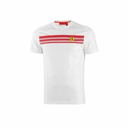 T-CAMICIA FERRARI MENS STRIPED TEE