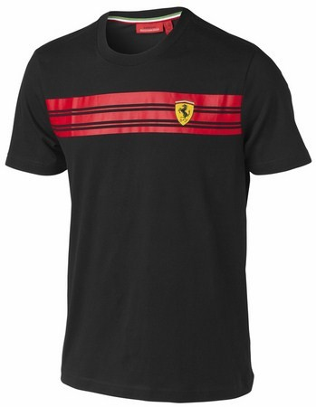 T-HEMD FERRARI MENS STRIPED TEE